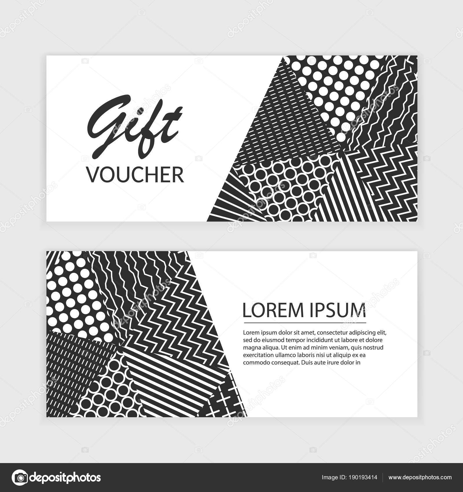 vector gift voucher template with abstract triangle background