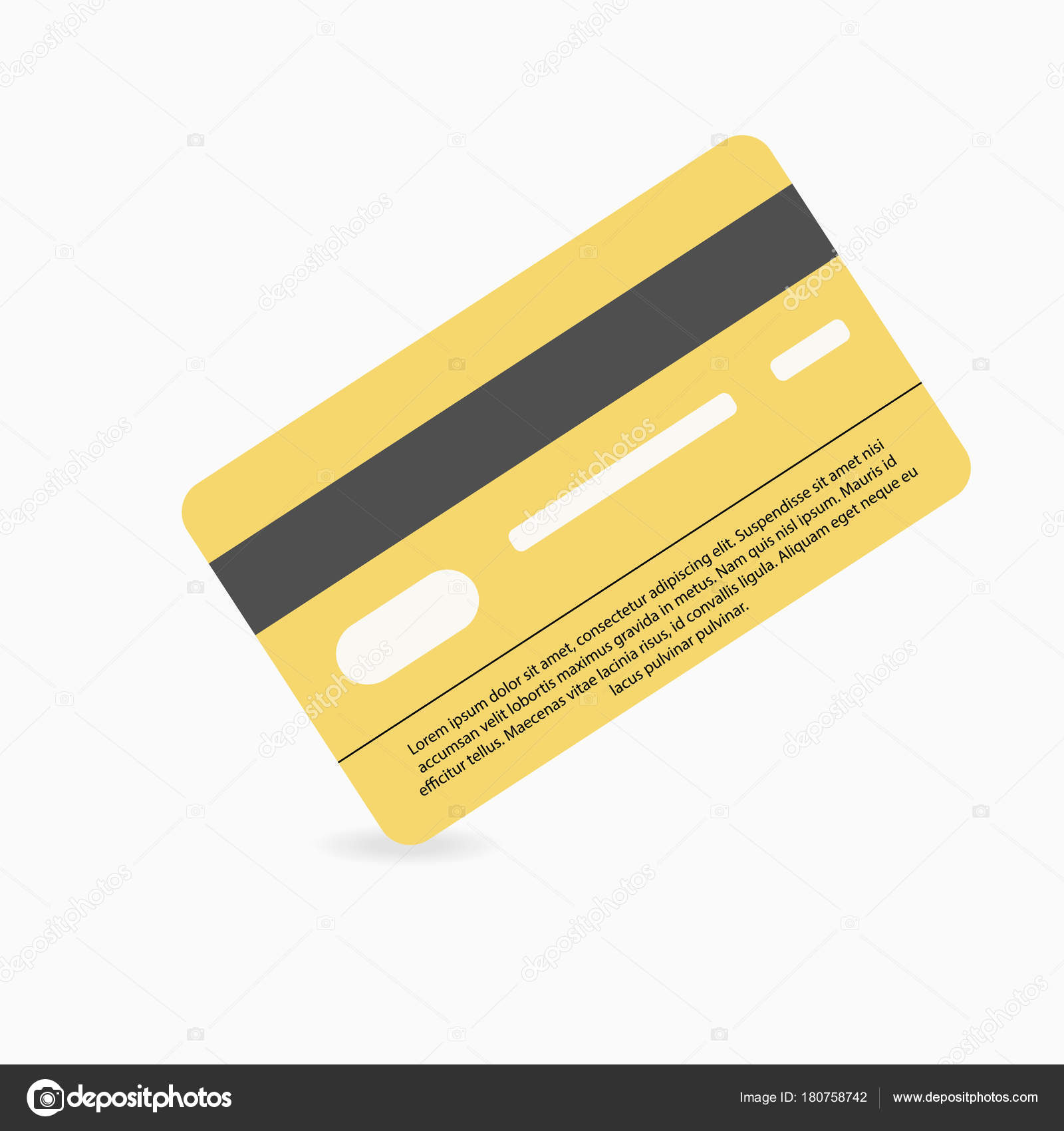 credit card white background shadow template bank card vector