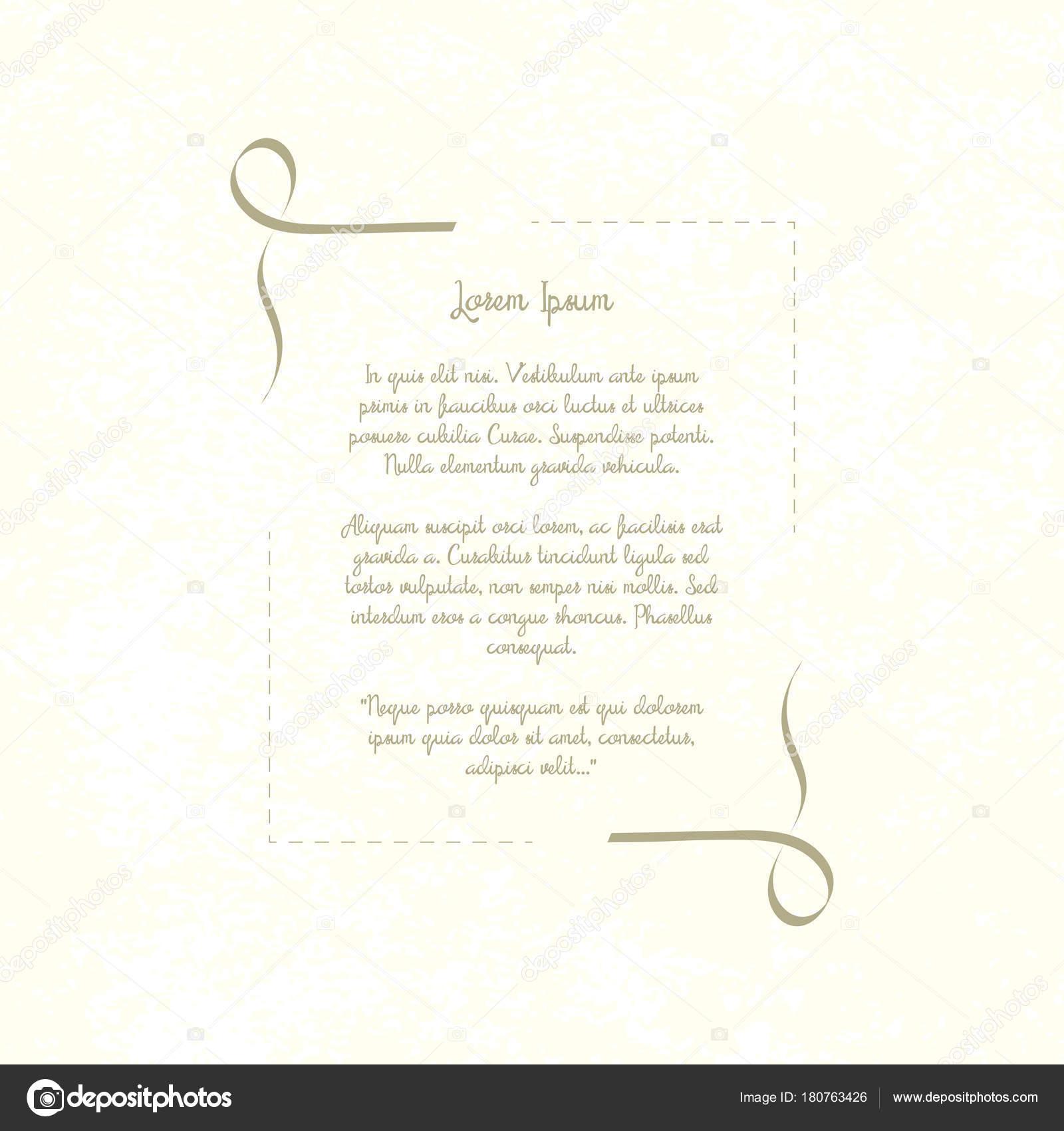 Marco Decorativo Vintage Plantilla Retra Lugar Para Texto Poema ...