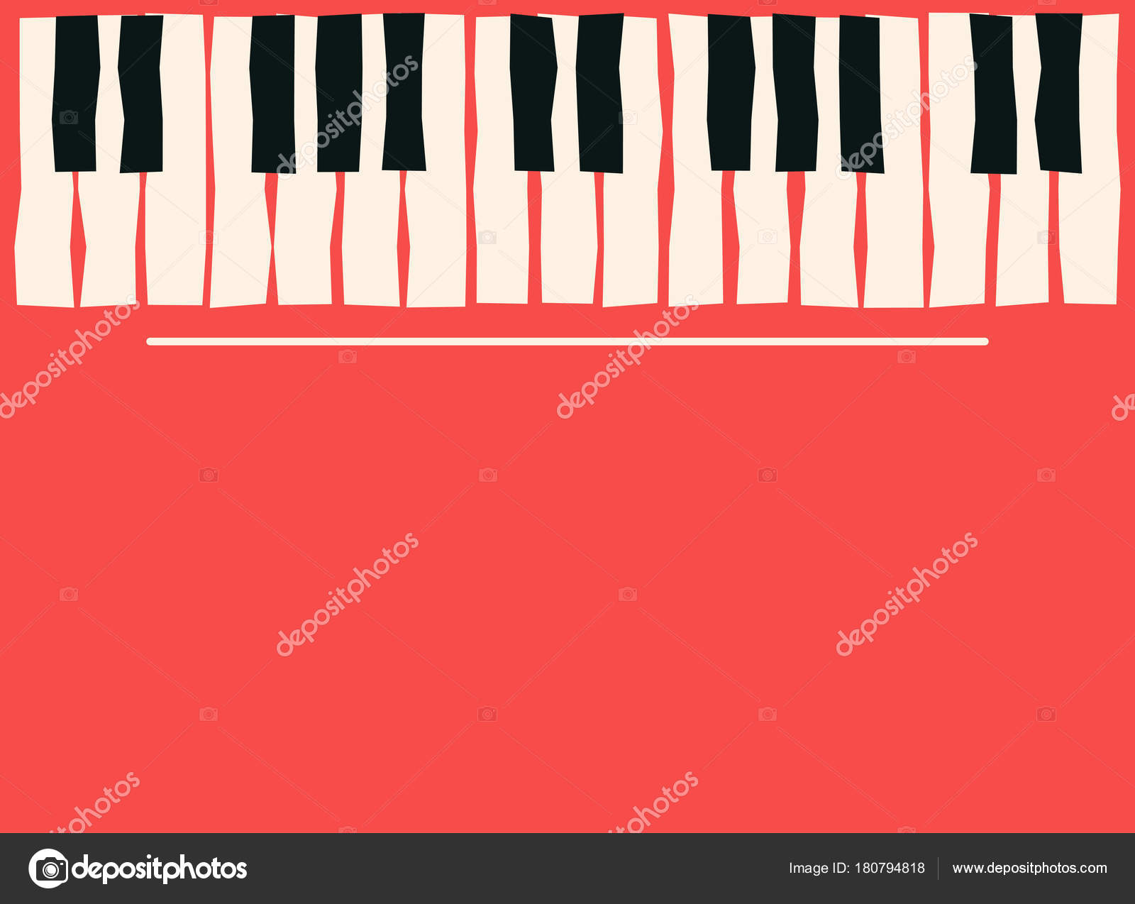 Piano Keys Music Poster Template Jazz Blues Concert Background Stock Vector
