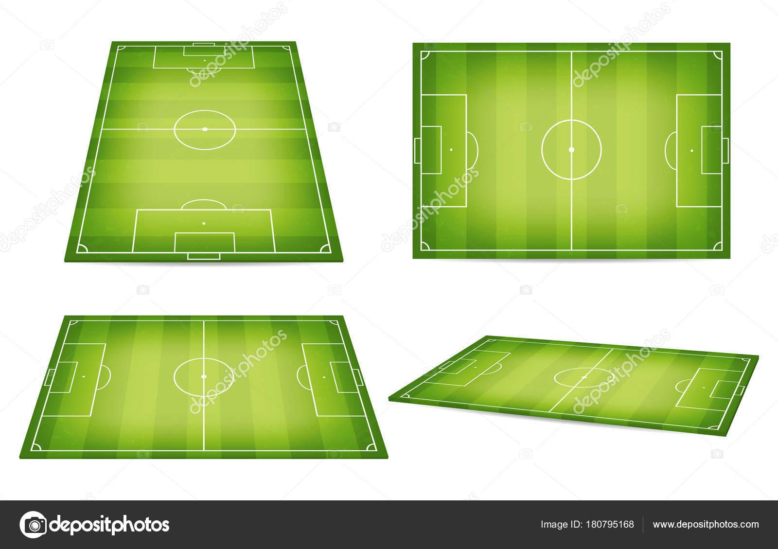 Coleção Campo Futebol Campos Futebol Vista Superior Vista Perspectiva  Vector — Vetores de Stock 83d7a253f833e
