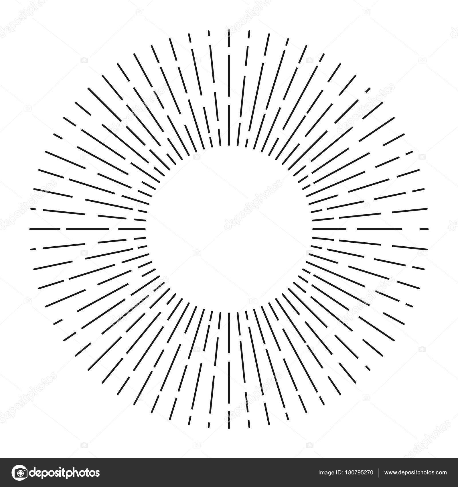 Sunburst Sunshine Rays Vintage Style Light Rays Radial Sunbeam ... for Vector Light Rays Vintage  56mzq