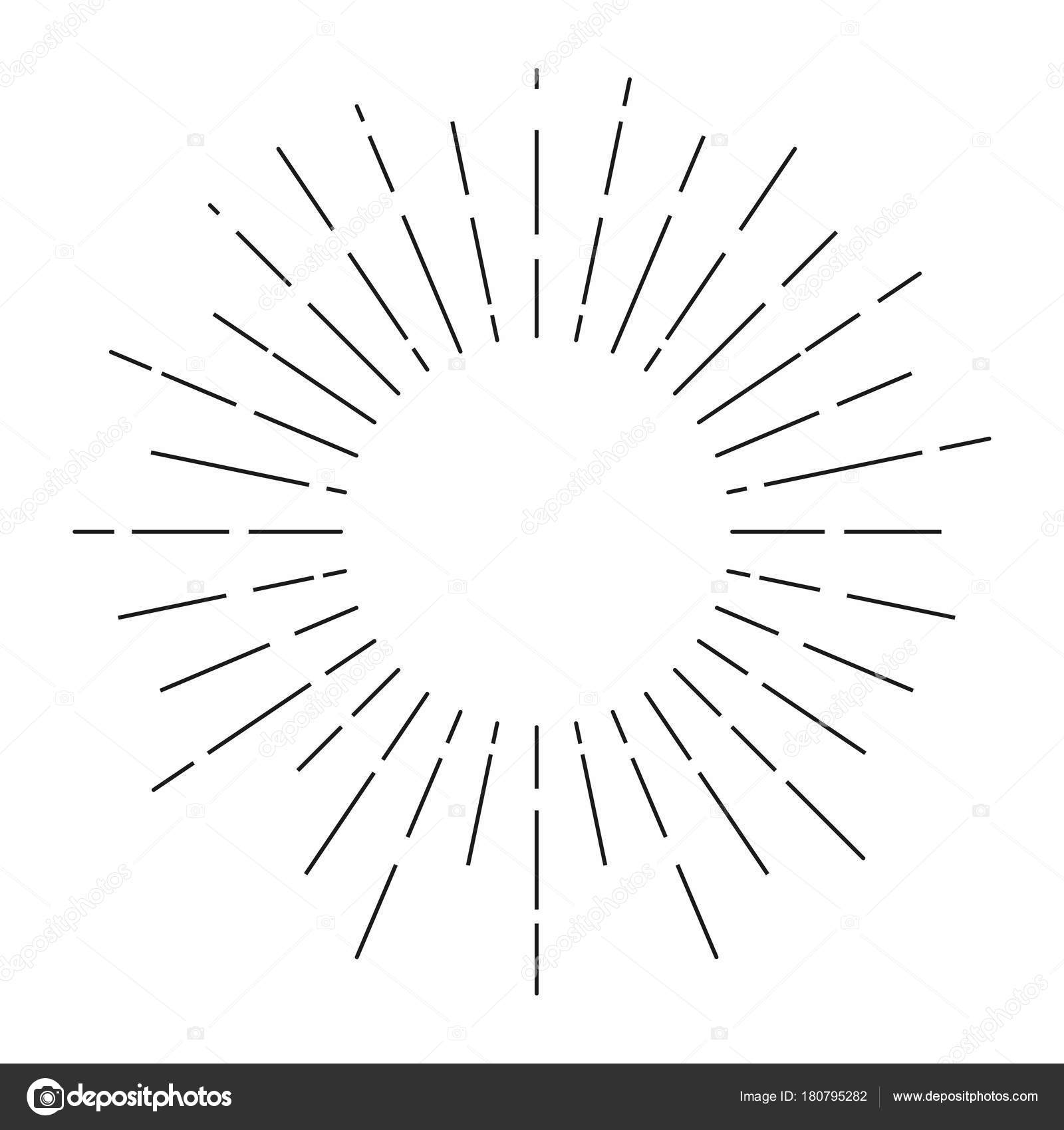 Sunburst Sunshine Rays Vintage Style Light Rays Radial Sunbeam ... for Vector Light Rays Vintage  585eri