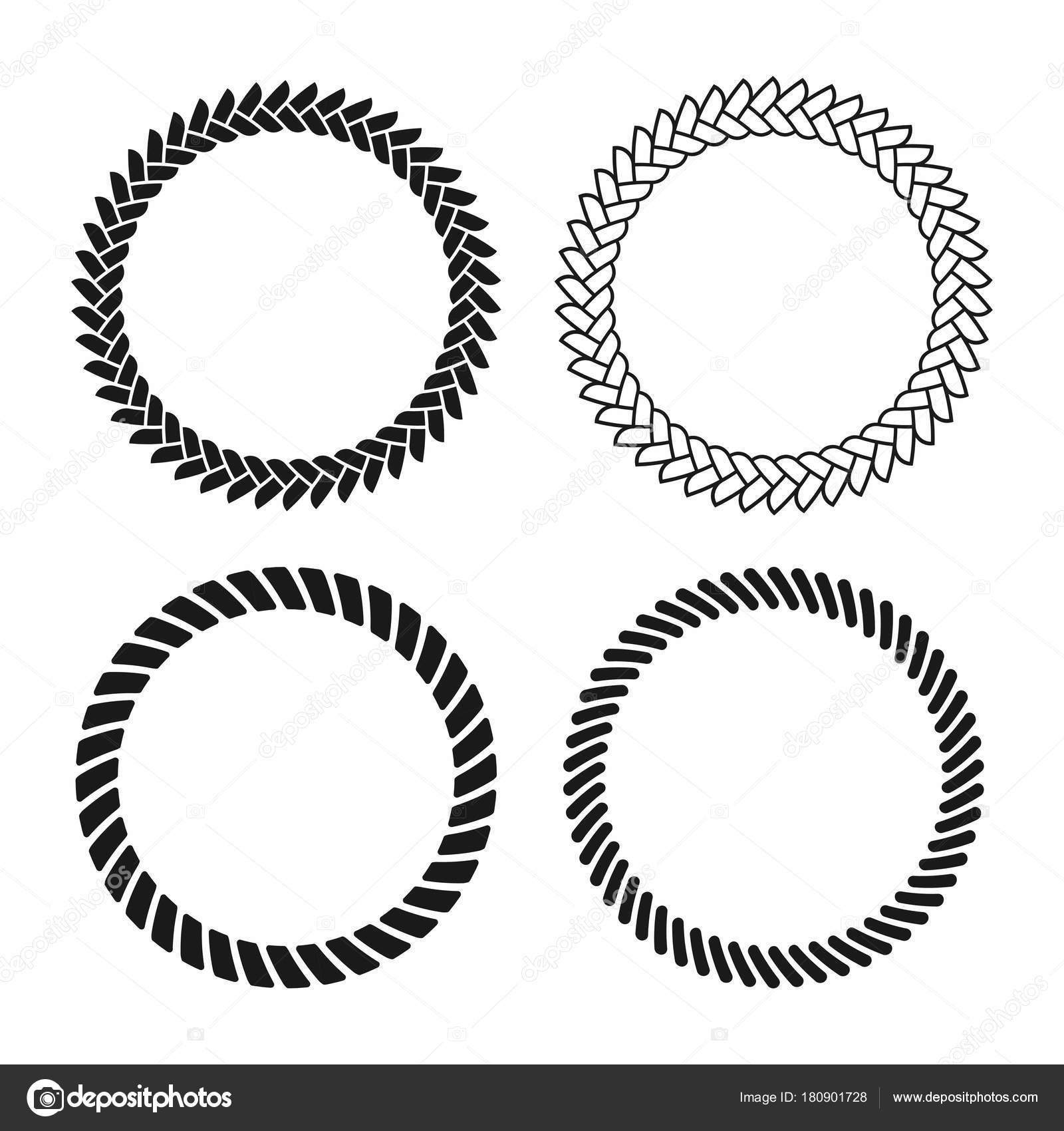 Bastidor de cuerda. Conjunto de marcos de vector redondo de cuerda ...
