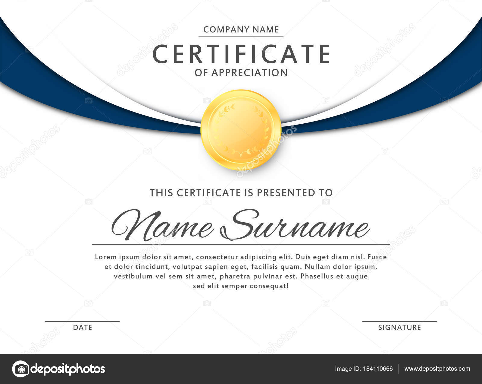 Black and gold certificate template | Certificate template