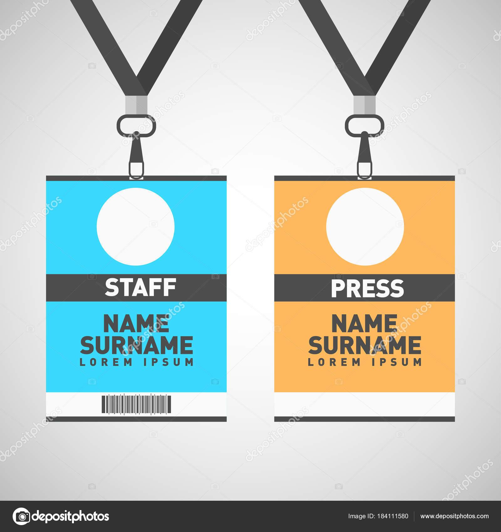 Tarjetas de identificación personal y prensa evento conjunto con ...