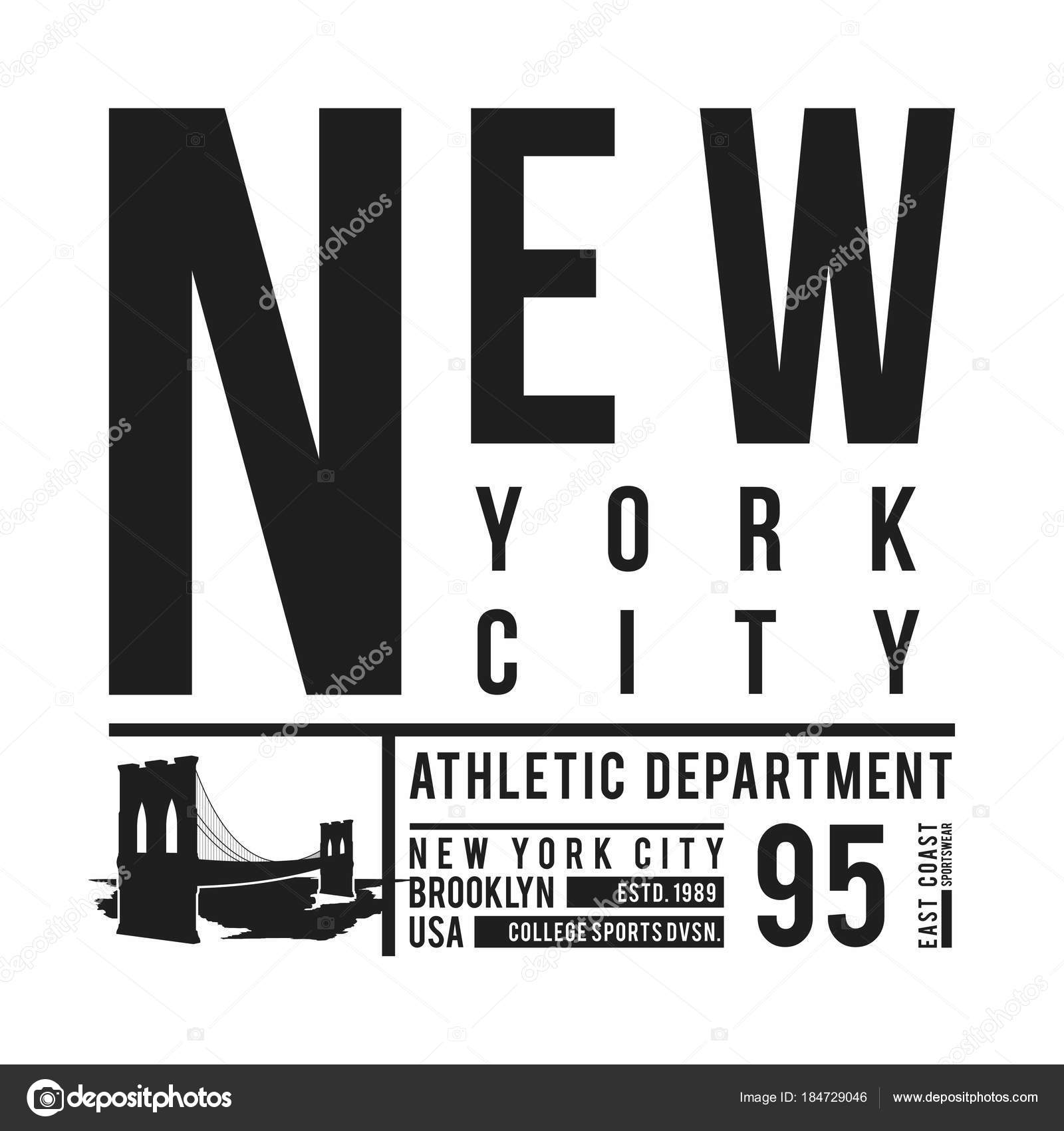 c4163104 New York, Brooklyn Bridge typography for t-shirt print. Stylized Brooklyn  Bridge silhouette. Tee shirt graphic, t-shirt design. Vector — Vector by ...