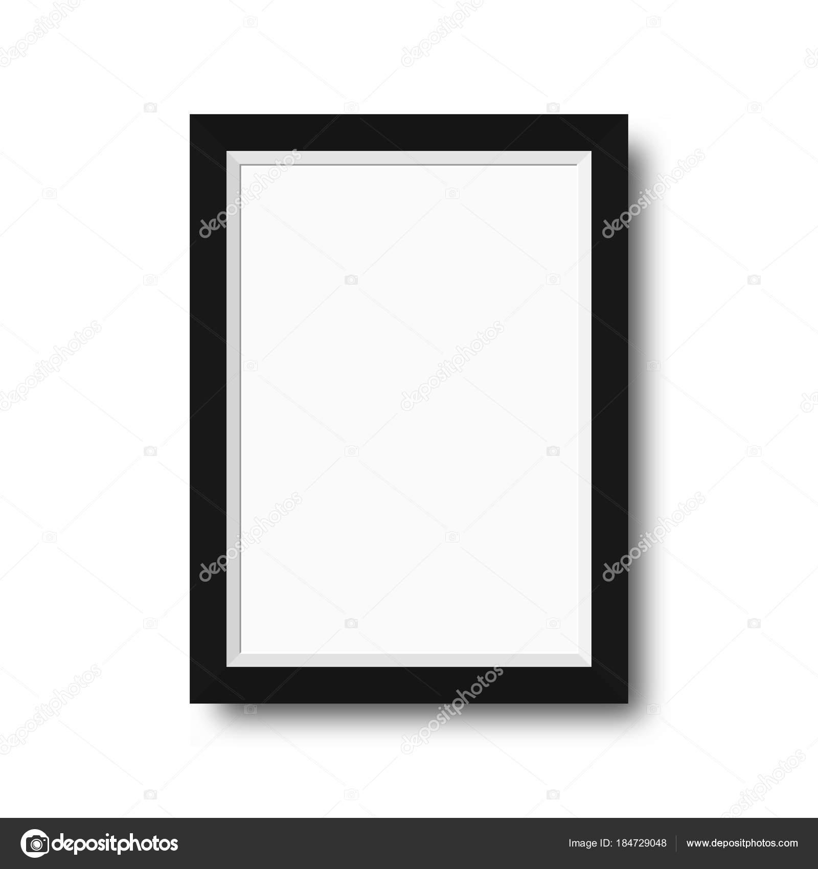 Marco de fotos con bordes negros. Marco de fotos madera con espacio ...