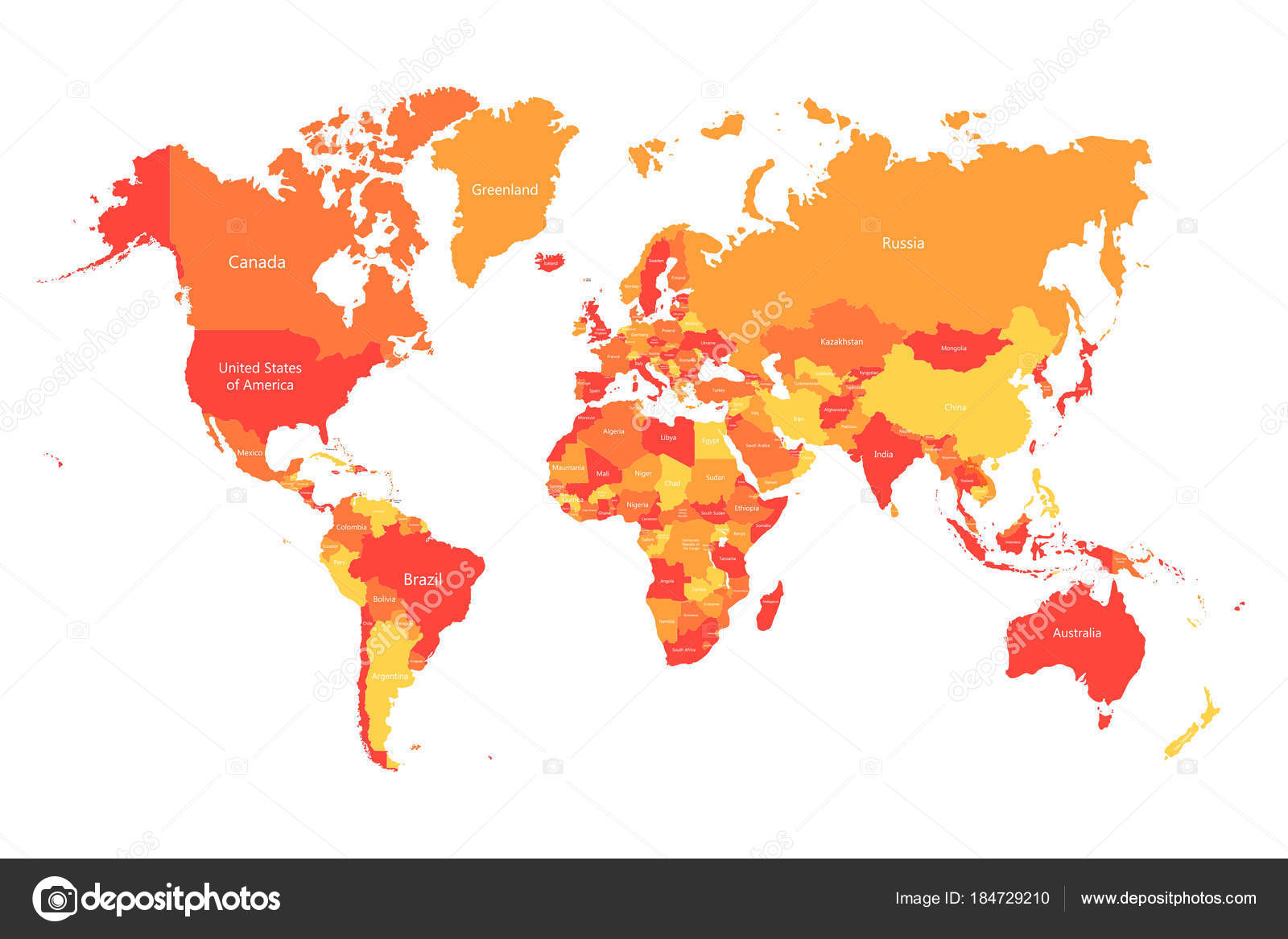 Vector world map with countries borders abstract red and yellow vector world map with countries borders abstract red and yellow world countries on map gumiabroncs Choice Image
