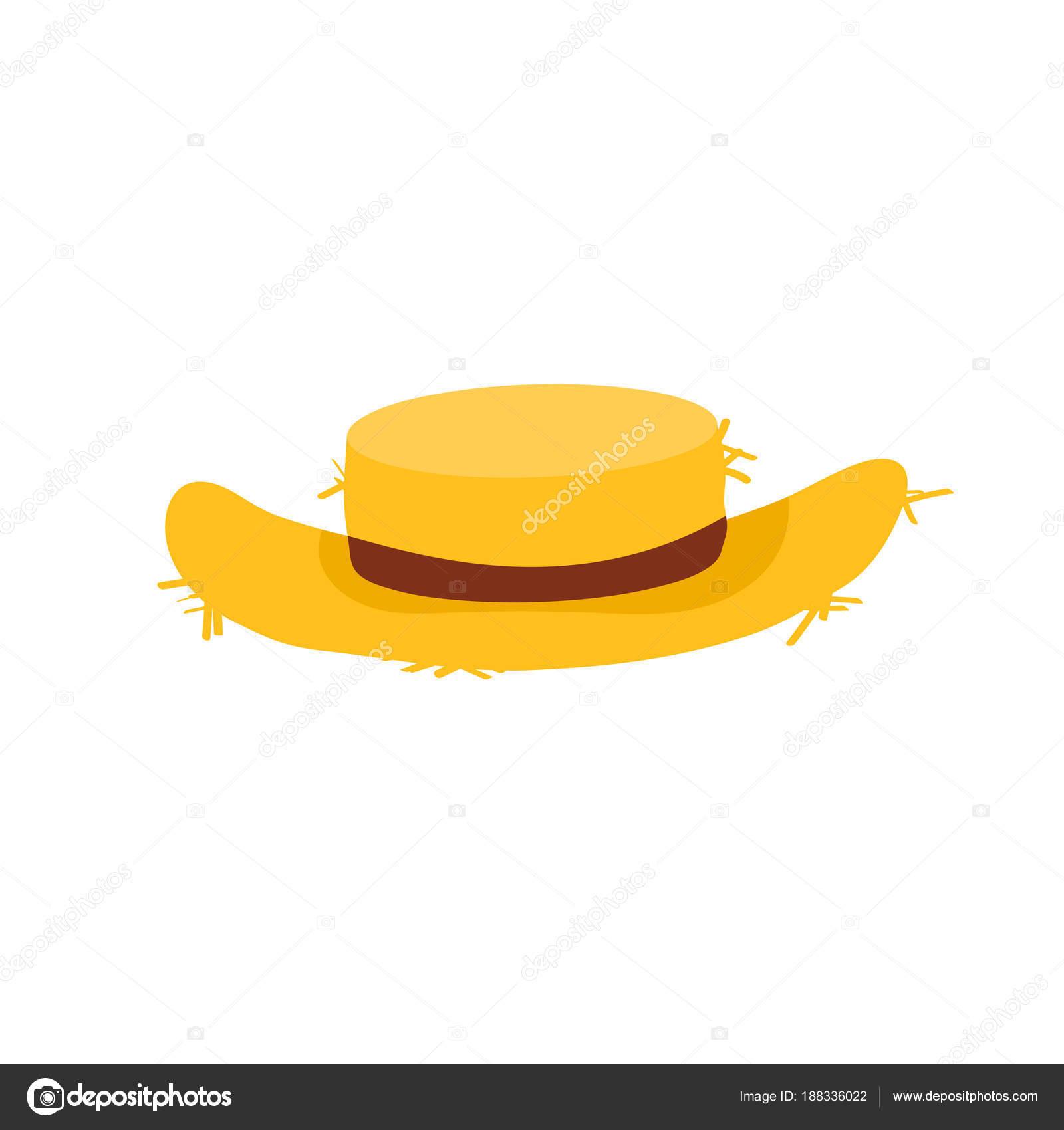 Cappello di paglia in stile cartone animato