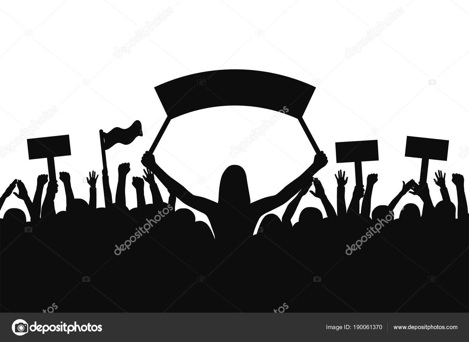 Siluetas De Personas Con Banderas