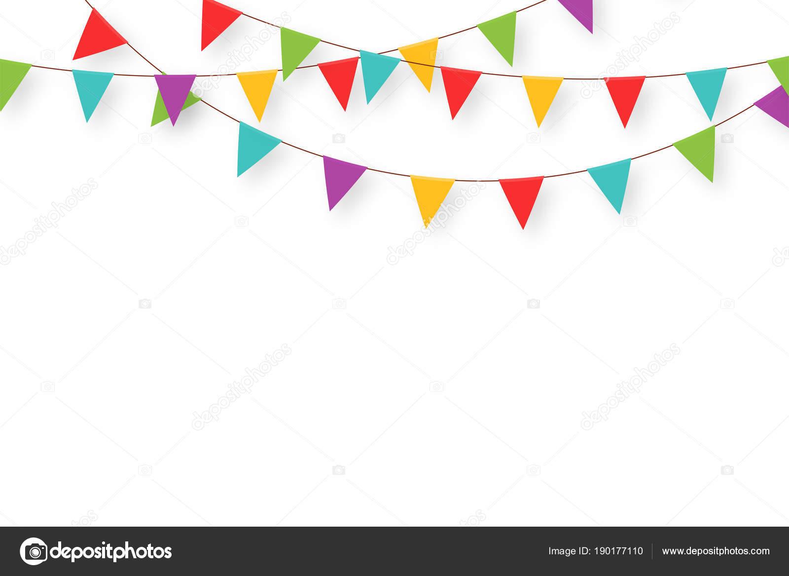guirnalda de carnaval con banderas banderines de fiesta pennant clipart images pendant clipart