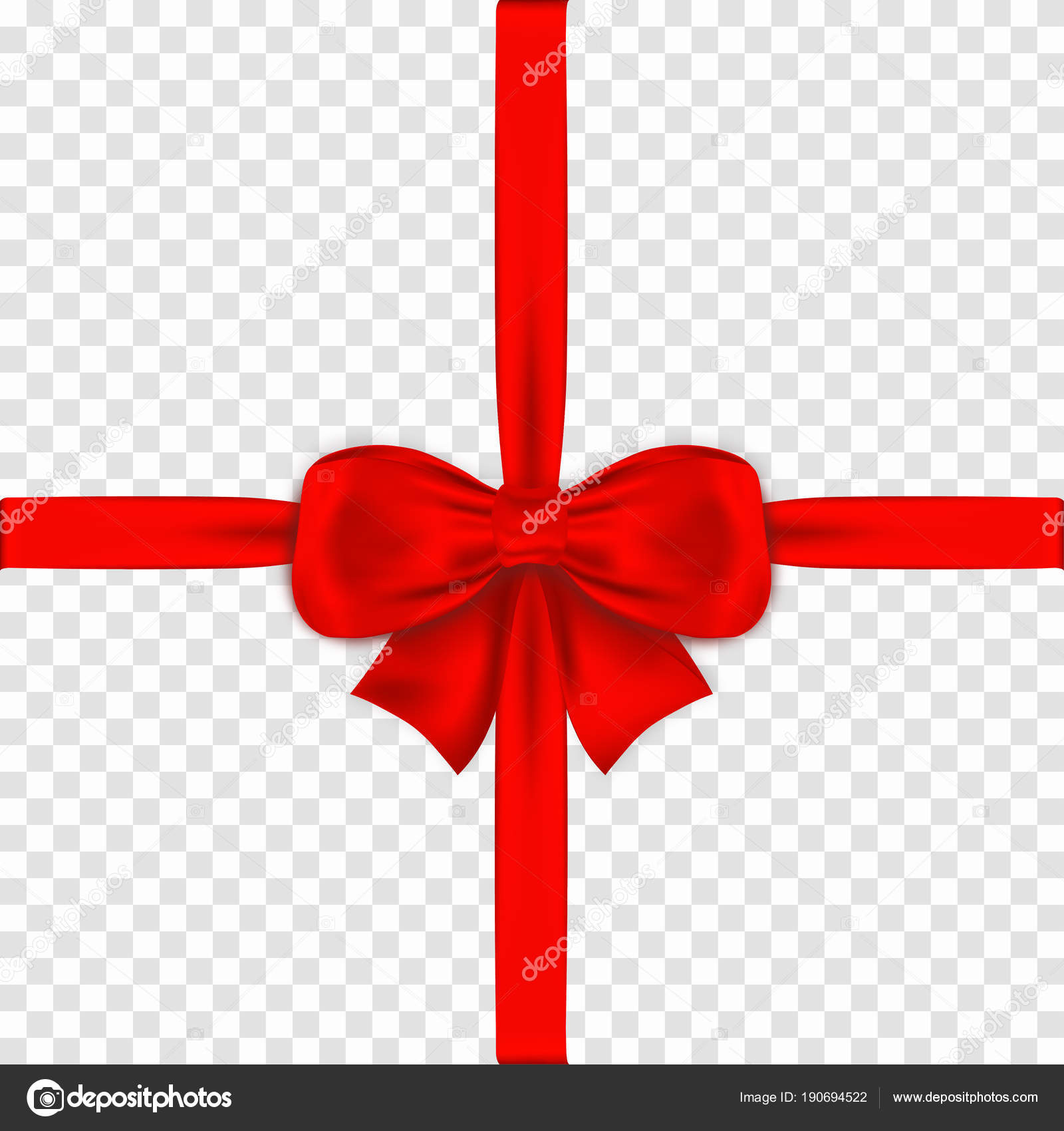 Red bow with ribbons on transparent background realistic satin gift red bow with ribbons on transparent background realistic satin gift bow with knot stock negle Gallery