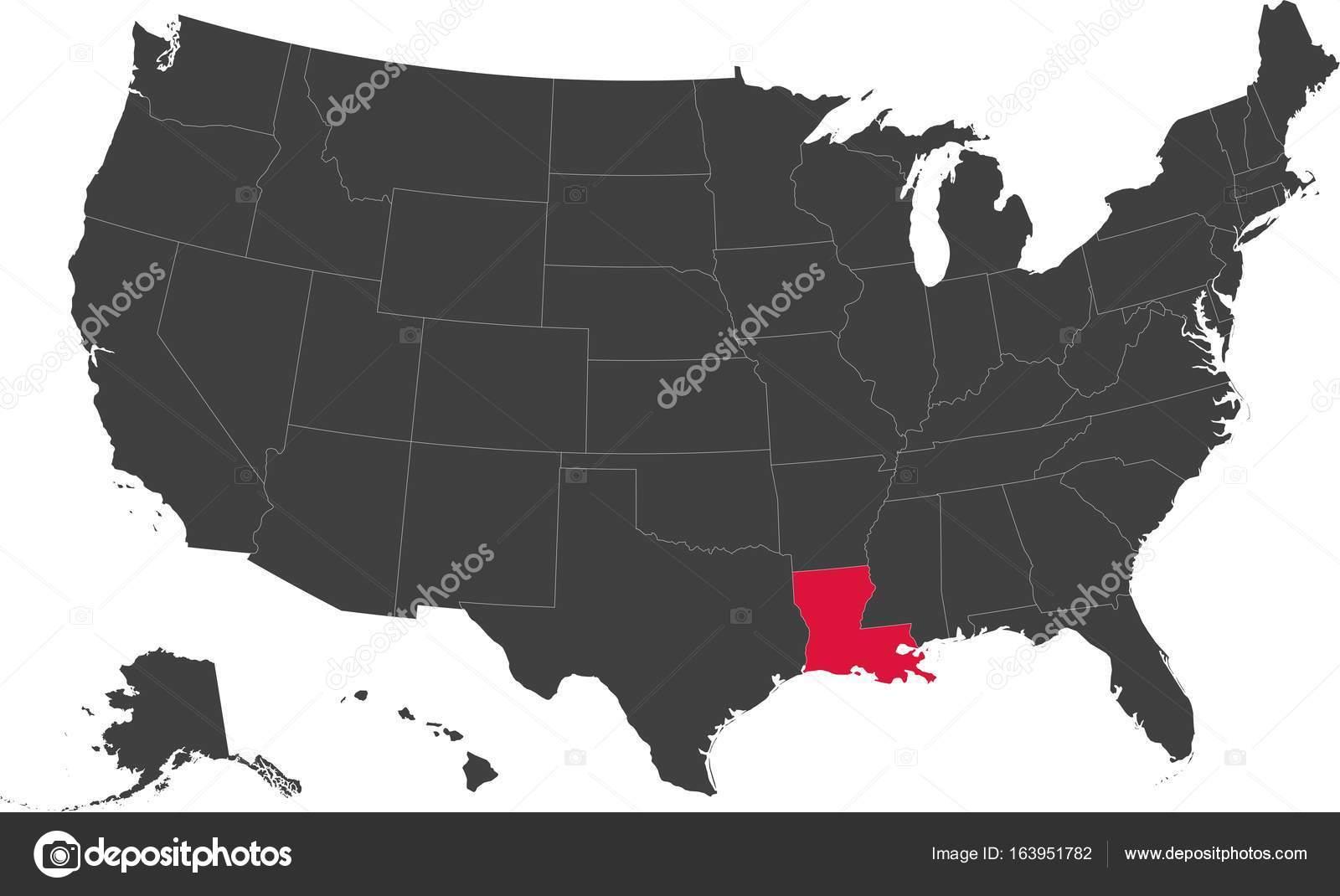 louisiana on a map of the usa Map Of Louisiana Usa Stock Vector C Bohuslavauhlirova Biz louisiana on a map of the usa
