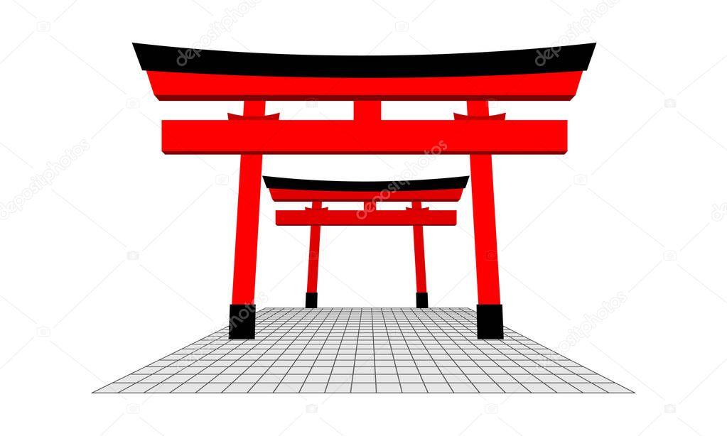Cancello giapponese e pavimento grigio concetto di for Pavimento giapponese