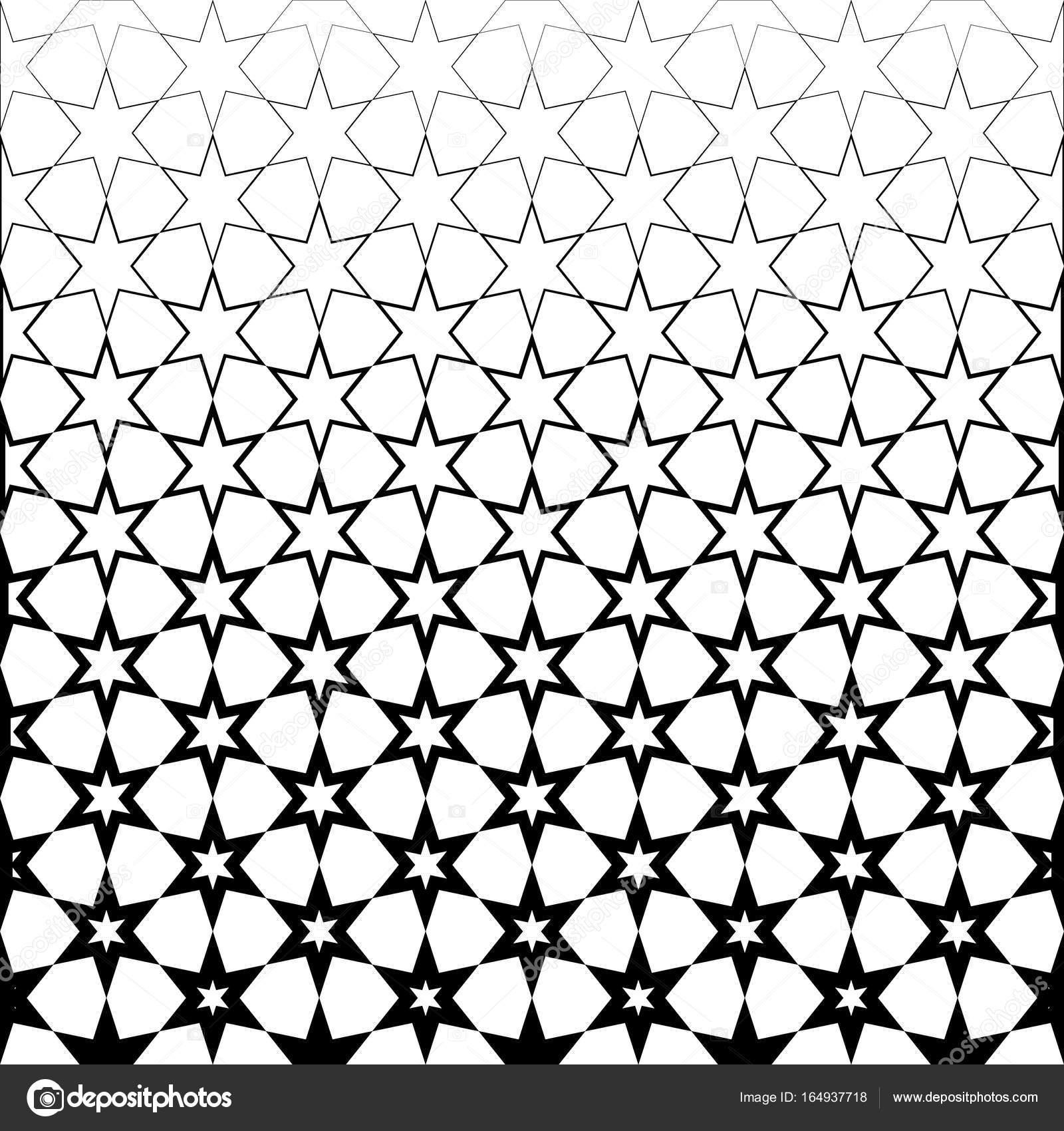 Papel pintado blanco y negro estrella abstracta o fondo vector de stock cvaradinac - Papel pintado negro ...