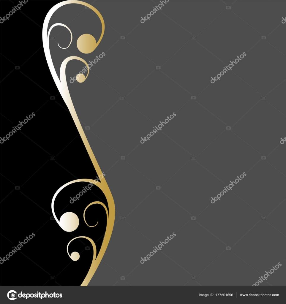 Diseño Fondo Oro Para Texto Muestra Conveniente Para Plantilla ...