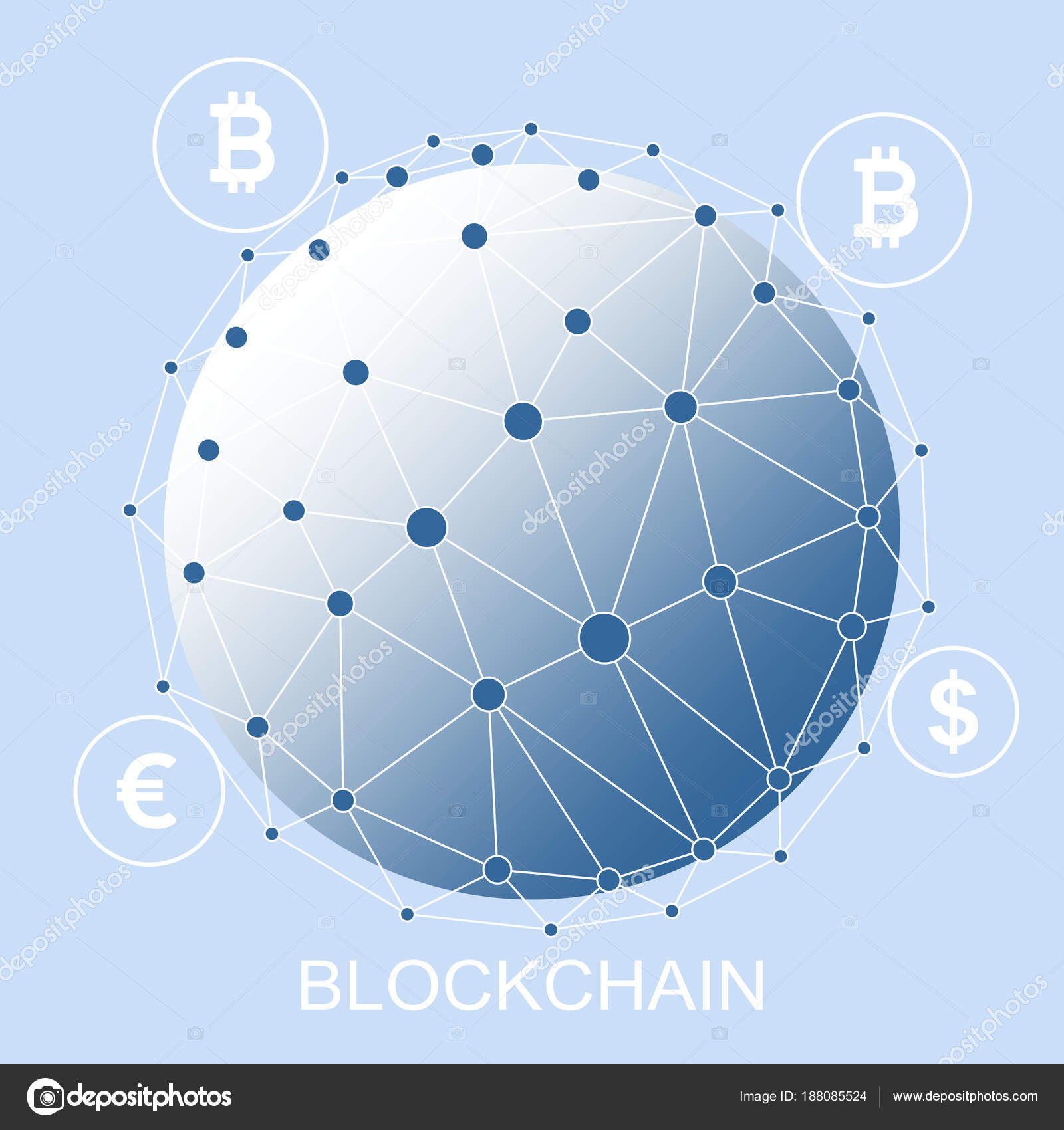Block Chain Concept Abstract Network Connection Design Background ...