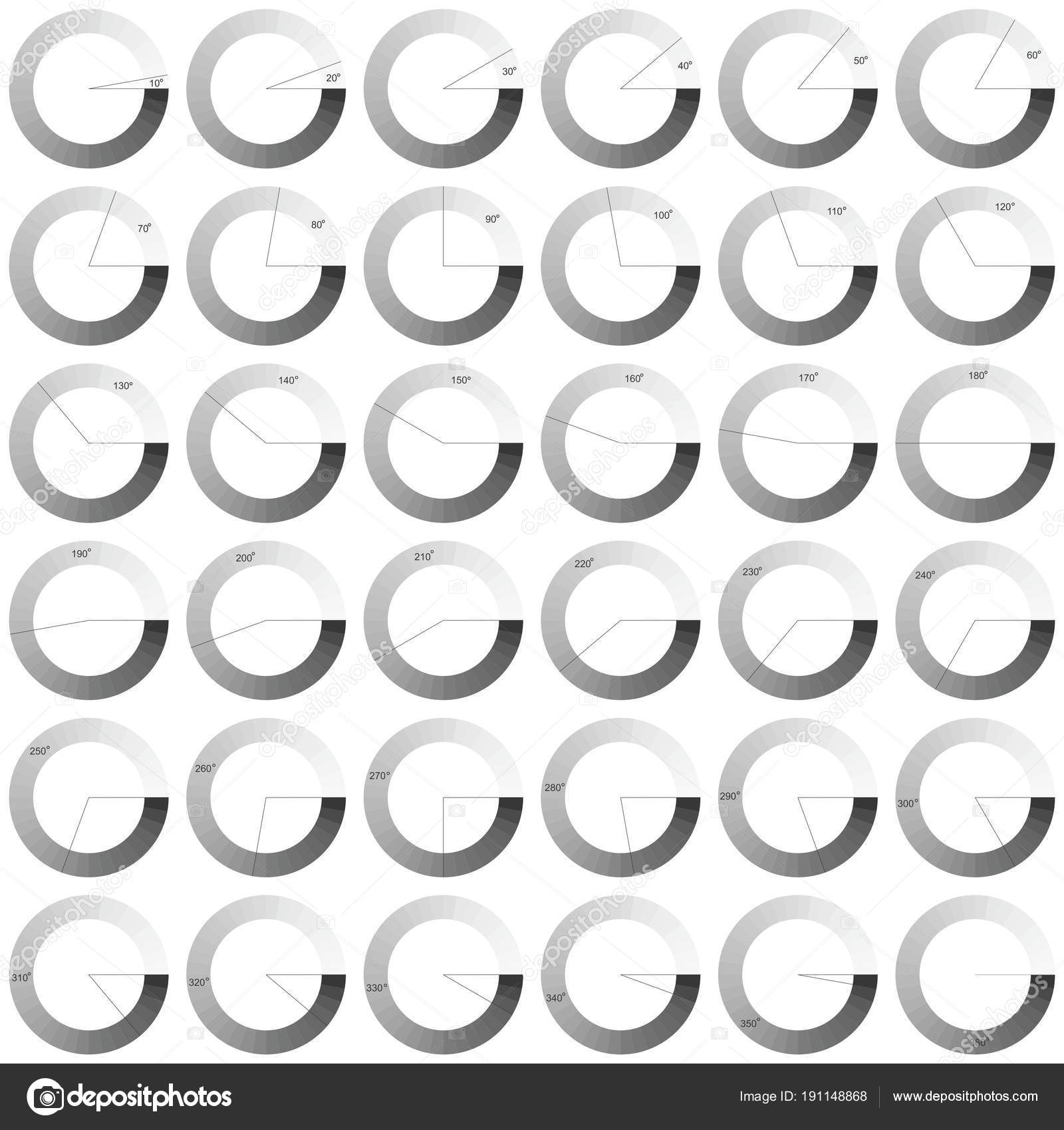 Superb Set 360 Degree Circle Diagrams Infographics Design Elements Vector Wiring Database Numdin4X4Andersnl