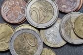 Euro coins close-up