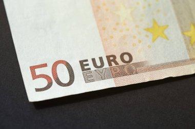Euro banknote close-up.