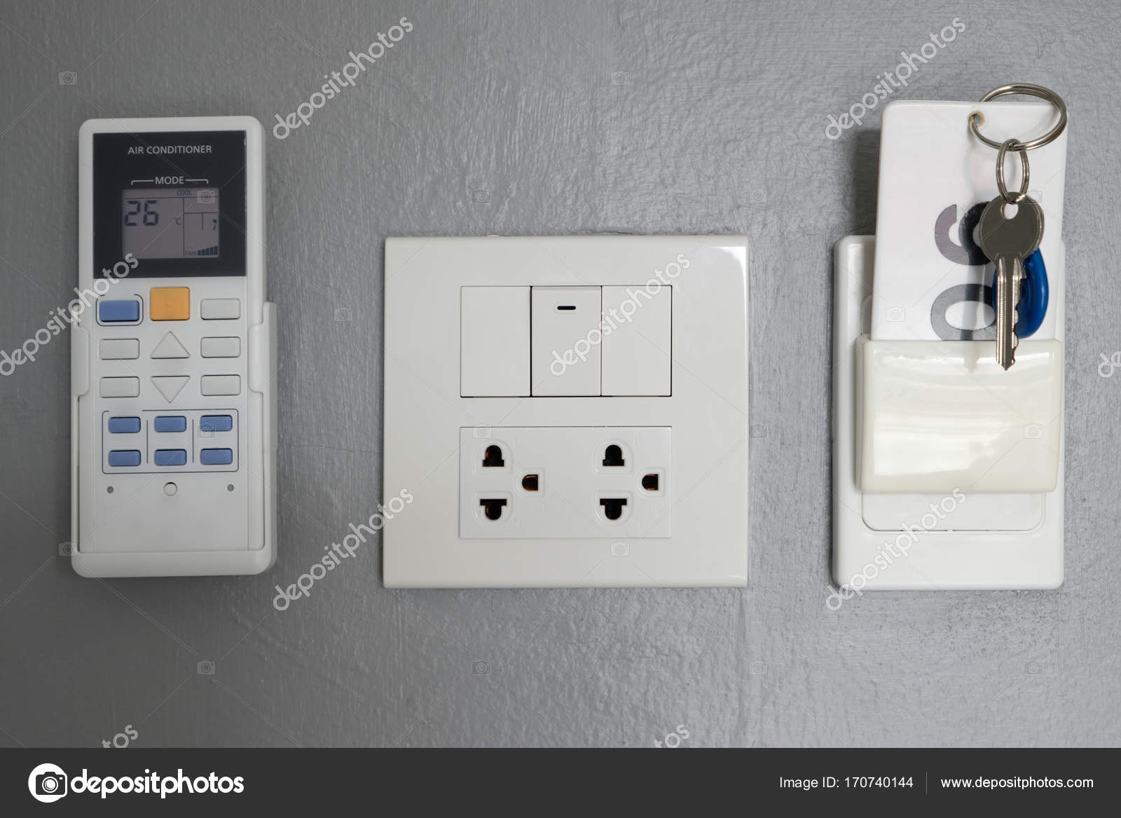 Key card, electrical panel, in the hotel room — Stock Photo ...