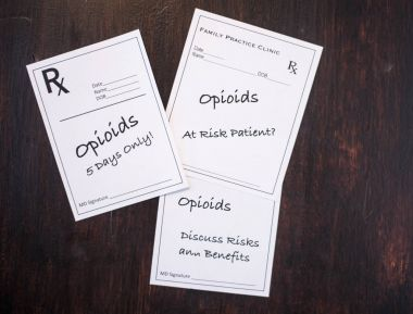 Opioid Prescriptions with prescribing warnings
