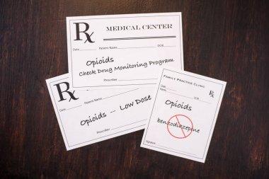 Opioid Prescriptions  with prescribing warnings .NEF