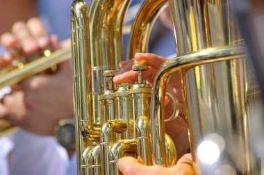 Tuba in brass band