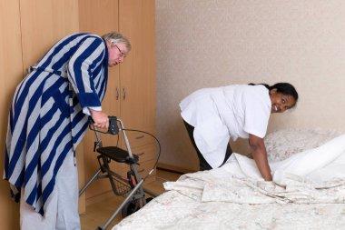 Naughty grandpa and nurse