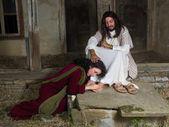 Fotografie Maria von Bethanien Salbung Jesu Füße
