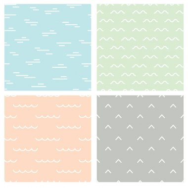 Abstract Seamless patterns set, vector illustration stock vector