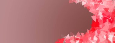 Abstract romance background with geometric hearts