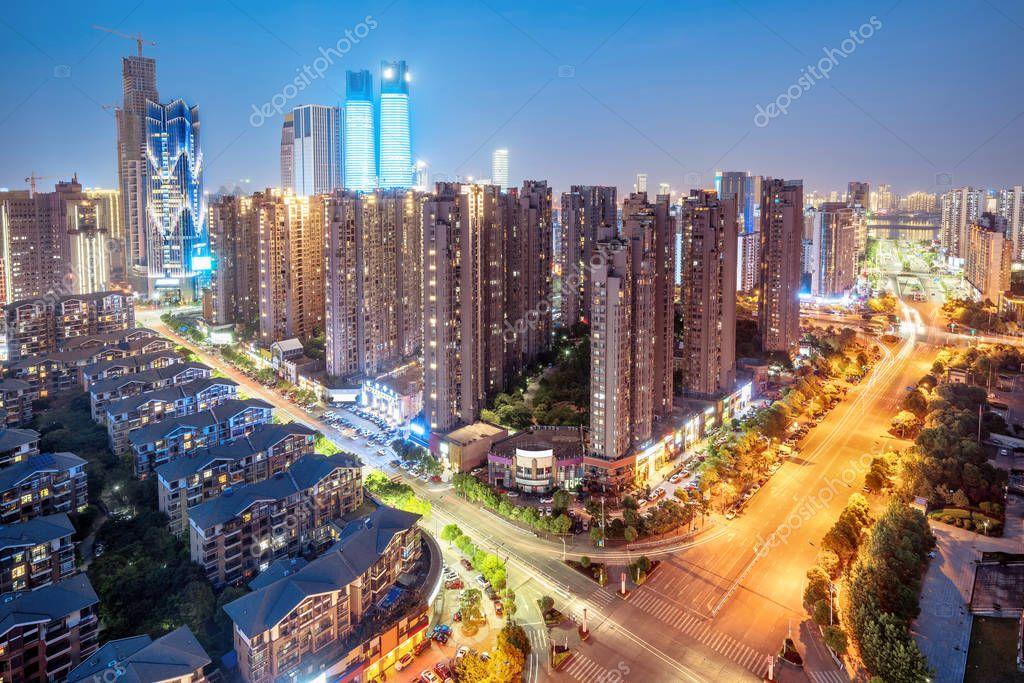 Фотообои Aerial view of the city