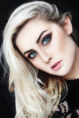 Blond beautiful woman