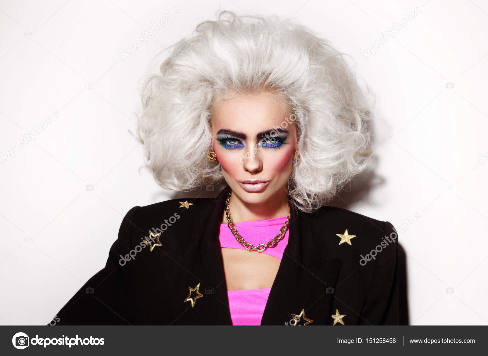 Maquillaje Estilo Años 80 Estilo De Mujer Con Los Años 80
