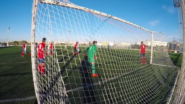 Soccer Players During a Corner Kick