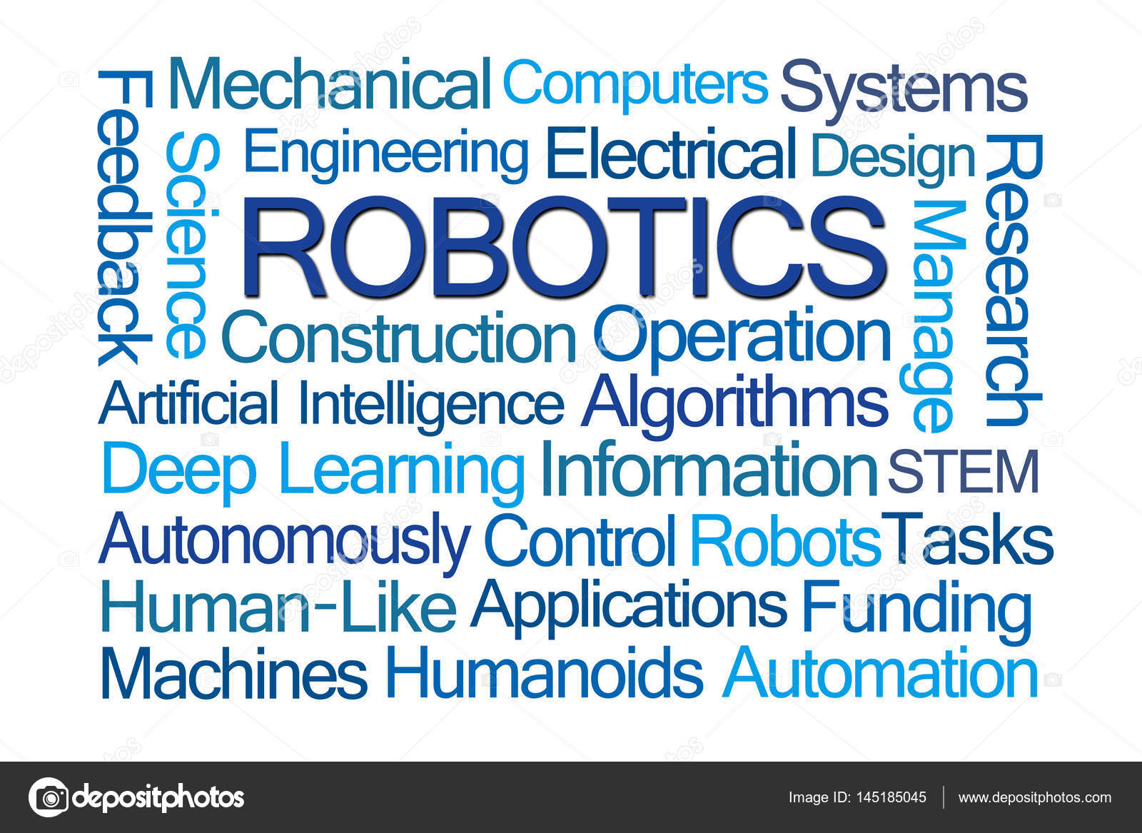 Robotics Word Cloud Stock Photo C Ventanamedia 145185045