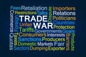 Fotografie Handel-Krieg-Wortwolke