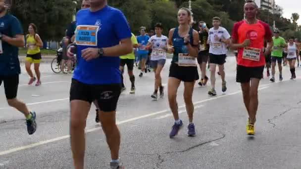 Runners compete in the 2017 Valencia Half Marathon in Valencia, Spain