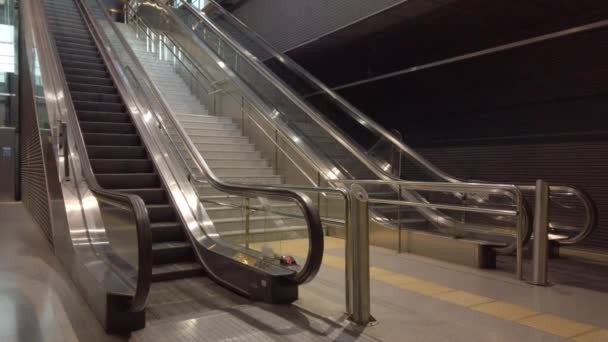 Public Escalators Moving with No One