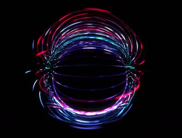 Rotující abstraktní koule smyčka