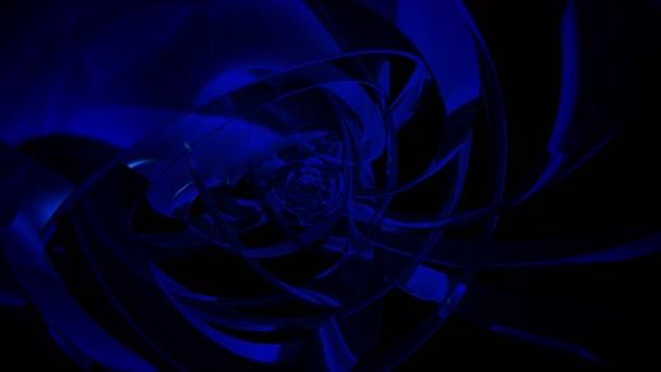 Moderní reflexní abstraktní modré Matrix kroužky smyčka