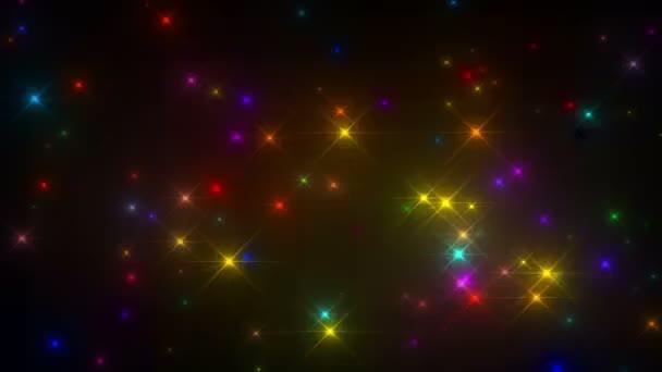Glittery Multicolored Flashes over a black