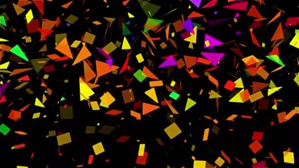 spärliche mehrfarbige abstrakte Mosaik-Hintergrundschleife