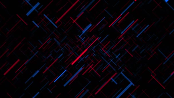 Red and Blue Intersecting Line Background Loop