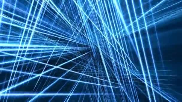 Rotating Abstract Blue Grid Loop