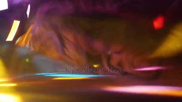 barevná světla projektoru
