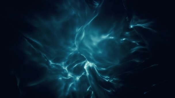 Blue Ethereal Glowing Abstract Flame Loop