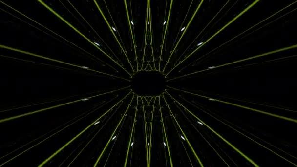 Barevné kaleidoskopické kroužky animace pozadí smyčky / 30 sekundy opakování pozadí psychedelické kruhy